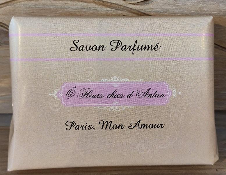 Savon parfumé au beurre de karité Paris mon amour