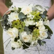 img Bouquet de mariée vert et blanc