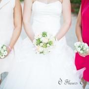img Bouquet de mariée et demoiselles d