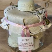 Confiturier de plâtre macarons parfumés