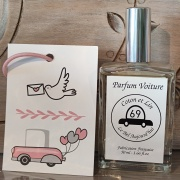 Spray parfum de voiture et carte diffuseur Coton et lin